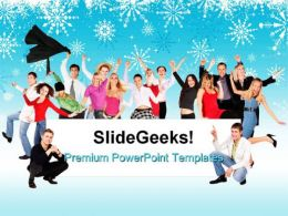 Happy People Business PowerPoint Templates And PowerPoint Backgrounds 0711