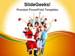 Happy People Christmas PowerPoint Templates And PowerPoint Backgrounds 0711