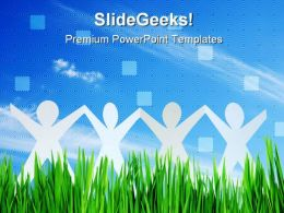 Happy People Team Business PowerPoint Templates And PowerPoint Backgrounds 0611
