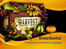 Harvest Box Nature PowerPoint Templates And PowerPoint Backgrounds 0211