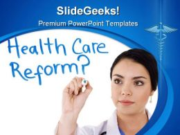 Health Care Reform Science PowerPoint Template 0610