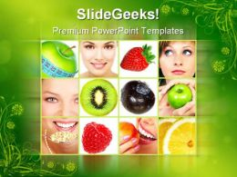 Healthy Collage Food PowerPoint Templates And PowerPoint Backgrounds 0711
