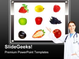 Healthy Diet Food PowerPoint Templates And PowerPoint Backgrounds 0811