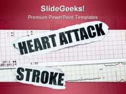Heart Attack Medical PowerPoint Template 0610