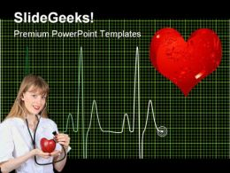 Heart Beat Medical PowerPoint Templates And PowerPoint Backgrounds 0611