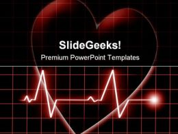 Heart Beat On Monitor Health PowerPoint Templates And PowerPoint Backgrounds 0811