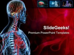 Heart Brain Medical PowerPoint Template 0610