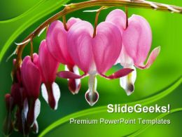 Heart Flowers Beauty PowerPoint Backgrounds And Templates 0111