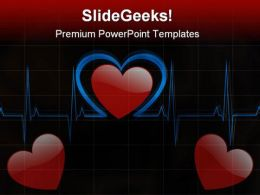 Heart Medical PowerPoint Template 0610