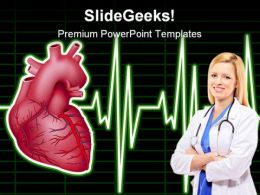 Heart Monitor Medical PowerPoint Backgrounds And Templates 1210