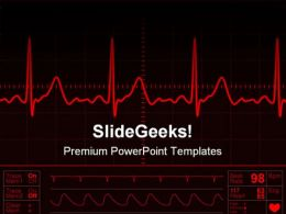 Heart Monitor Screen Medical PowerPoint Templates And PowerPoint Backgrounds 0711