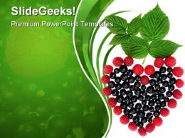 Heart Of Berries Nature PowerPoint Templates And PowerPoint Backgrounds 0311