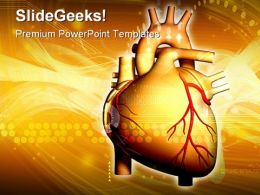 Heart Science Medical PowerPoint Backgrounds And Templates 0111