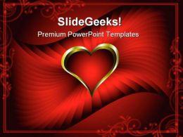 Heart Wedding PowerPoint Template 0610