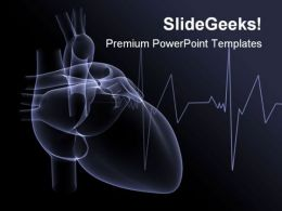 Heart X Ray Medical PowerPoint Template 1110