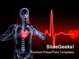 Heart Xray Medical PowerPoint Templates And PowerPoint Backgrounds 0811