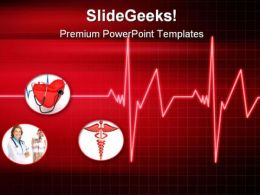 Heartbeat Medical PowerPoint Templates And PowerPoint Backgrounds 0811