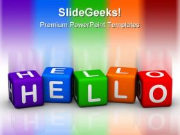 Hello Cubes Shapes PowerPoint Templates And PowerPoint Backgrounds 0211