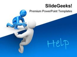 Help01 Metaphor PowerPoint Templates And PowerPoint Backgrounds 0811