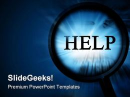 Help Business PowerPoint Template 0910
