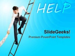 Help For Success Business PowerPoint Templates And PowerPoint Backgrounds 0911