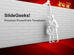 Help Metaphor PowerPoint Templates And PowerPoint Backgrounds 0811