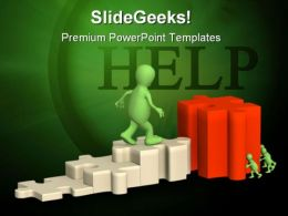 Help Puzzle PowerPoint Template 0510  Presentation Themes and Graphics Slide01