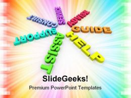 Help Support Guide Business PowerPoint Templates And PowerPoint Backgrounds 0911