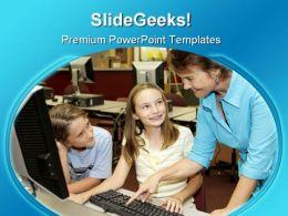 Helpful Teacher Education PowerPoint Template 1110