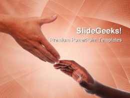 Helping Hands Business PowerPoint Templates And PowerPoint Backgrounds 0711