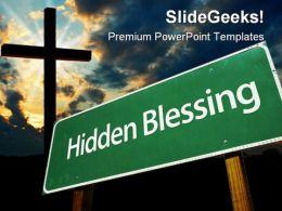 Hidden Blessing Christ PowerPoint Template 0610