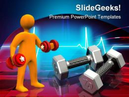 High Tech Work Out Health PowerPoint Templates And PowerPoint Backgrounds 0311