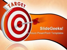 Hit Target Business PowerPoint Background And Template 1210