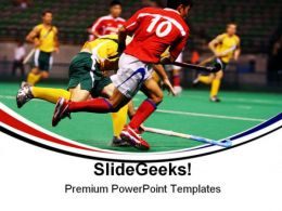 Hockey Players Sports PowerPoint Templates And PowerPoint Backgrounds 0711