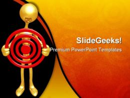 Holding Target Business PowerPoint Templates And PowerPoint Backgrounds 0611