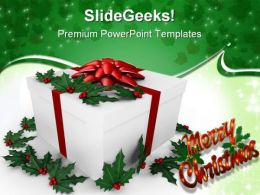 Holiday Gift Christmas PowerPoint Backgrounds And Templates 0111