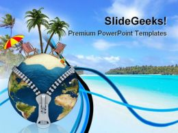 Holiday Vacation Beach PowerPoint Templates And PowerPoint Backgrounds 0111