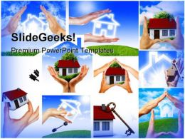 Home Collage Real Estate PowerPoint Templates And PowerPoint Backgrounds 0511