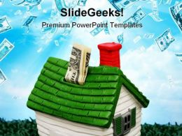 Home Investment Money PowerPoint Templates And PowerPoint Backgrounds 0711