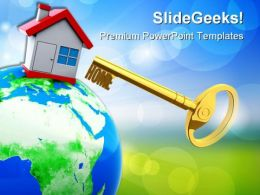Home Key01 Security PowerPoint Templates And PowerPoint Backgrounds 0311