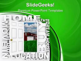 Home Ownership Real Estate PowerPoint Templates And PowerPoint Backgrounds 0811