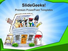 Home Project Construction PowerPoint Templates And PowerPoint Backgrounds 0511