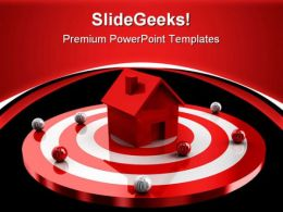 Home Target Real Estate PowerPoint Templates And PowerPoint Backgrounds 0711