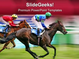 Horse Racing Competition Game PowerPoint Templates And PowerPoint Backgrounds 0711