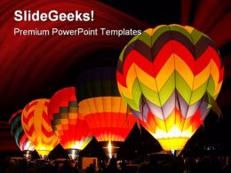 Hot Air Balloons Sports PowerPoint Template 1110