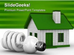 House Energy Concept Realestate PowerPoint Backgrounds And Templates 1210