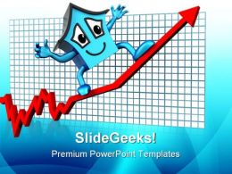 House Prices Up Real Estate PowerPoint Templates And PowerPoint Backgrounds 0711