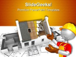 House With Exposed Construction PowerPoint Backgrounds And Templates 1210