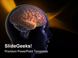 Human Brain02 Medical PowerPoint Templates And PowerPoint Backgrounds 0711
