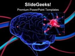 Human Brain Medical PowerPoint Backgrounds And Templates 1210